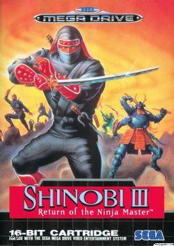بازی اکشن و زیبای Shinobi 3 کنسول SEGA همراه با مبدل