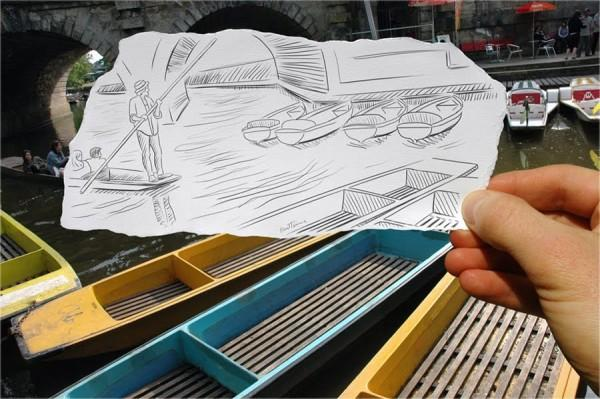 pencil vs camera‌ by‌ ben heine