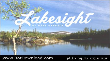 فونت انگلیسی Lakesight