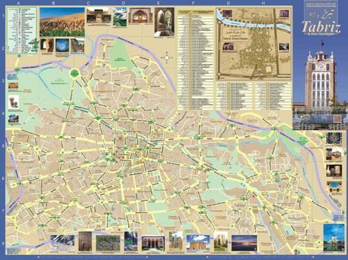 نقشه شهر تبریز