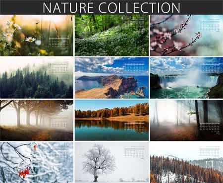 تقویم سال 98 با موضوع طبیعت